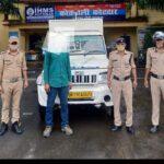 पुलिस ने फरार चल रहे बिलोरो के चालक को वाहन सहित पकड़ा